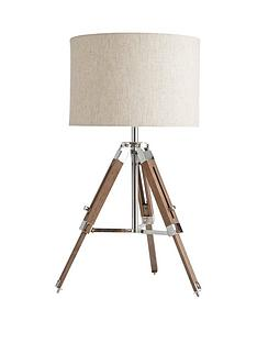 ideal-home-loki-wooden-tripod-table-lamp