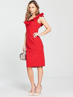 coast-kora-ruffle-shift-dress-red