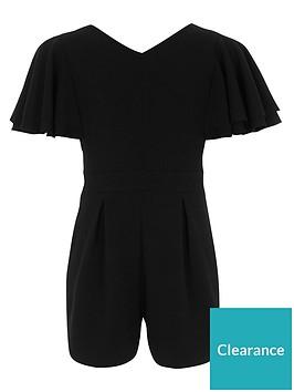 river-island-girls-black-frill-sleeve-v-neck-playsuit