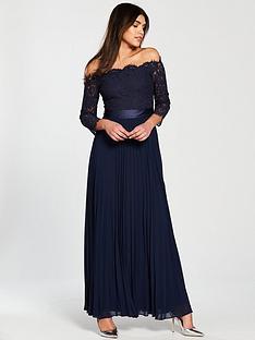 coast-imi-lace-bardot-dress-navy