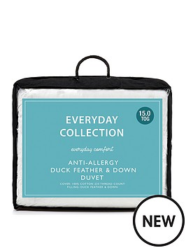Everyday Collection Anti Allergy Duck Feather And Down 15 Tog Duvet Littlewoodsireland Ie