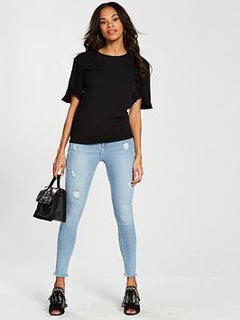 by Black Ruffle Detail Very T Sleeve V  shirt Websites Cheap Online Cheap Sale Perfect Sale Order Footlocker For Sale Enjoy Online kAA18tr