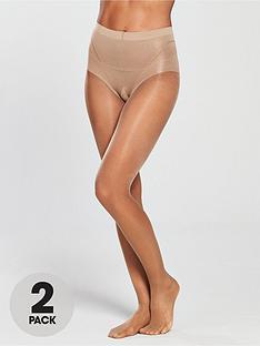 pretty-polly-2-pack-15-denier-high-leg-toner-tights-nude