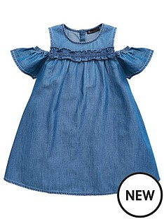 mini-v-by-very-girls-tencel-cold-shoulder-ruffle-dress
