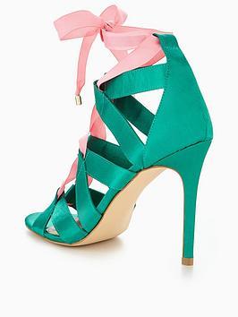 by V Lulu Detail Green  Very Sandal Pink Tie Heel Footlocker Finishline fdbLc