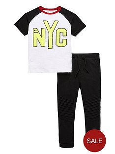 mini-v-by-very-boys-nyc-tee-and-jogger-set