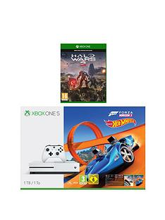 xbox-one-s-1tbnbspconsole-with-forza-horizon-3-hot-wheels-and-halo-wars-2nbspplus-optional-extra-controller-andor-12-months-live-gold