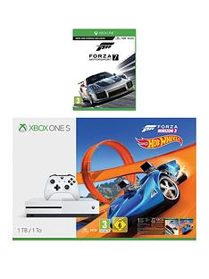xbox-one-s-1tbnbspconsole-with-forza-horizon-3-hot-wheels-and-forza-7nbspplus-optional-extra-controller-andor-12-months-xbox-live