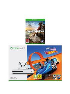xbox-one-s-1tbnbspconsole-with-forza-horizon-3-hot-wheels-and-ghost-recon-wildlandsnbspplus-optional-extra-controller-andor-12-months-xbox-live-gold