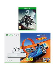 xbox-one-s-1tbnbspconsole-with-forza-horizon-3-hot-wheels-and-destiny-2nbspplus-optional-extra-controller-andor-12-months-playstation-network