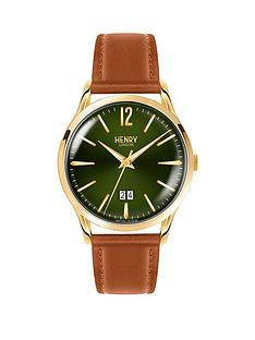 henry-london-chiswick-green-dial-brown-leather-strap-mens-watch