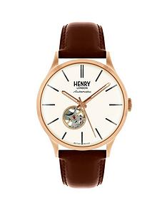 henry-london-heritage-automatic-white-dial-brown-strap-mens-watch