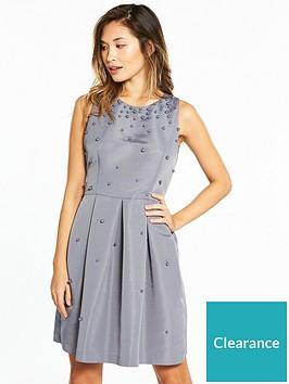 db7e5591 Ted Baker Milliea Pearl Embellished Skater Dress - Grey ...