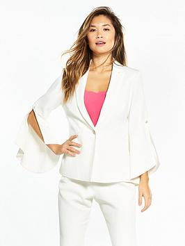 ted-baker-lalya-pearl-detail-bell-sleeve-suit-blazer