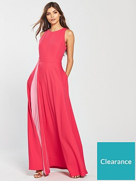 3db4bc9a23e03b Ted Baker Madizon Contrast Pleat Maxi Dress - Deep Pink ...