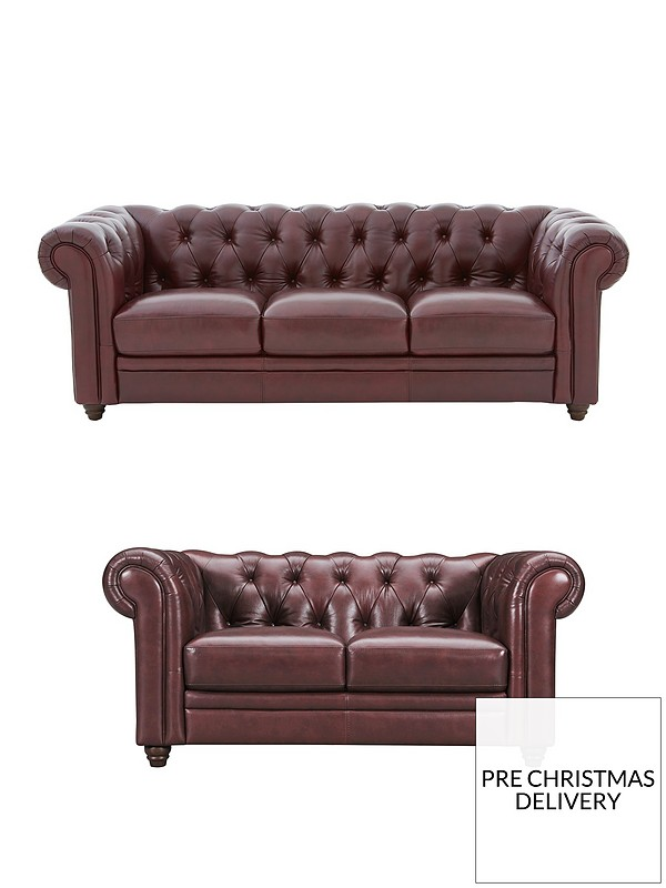 Outstanding Chester Leather 3 Seater 2 Seater Premium Leather Sofa Set Buy And Save Machost Co Dining Chair Design Ideas Machostcouk