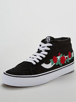 Sale Best Prices Cheap Sale In China UA Embroidered Black nbsp Mid Sk8  Vans Free Shipping Manchester Great Sale Buy Cheap Visa Payment Shop lOliYsRB4Q