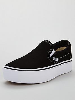dea9414dcb Vans UA Classic Slip-On Platform - Black