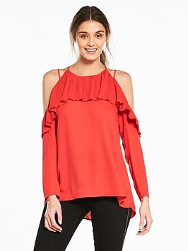 Extremely Cheap Price Frill Blouse Island River Red With Paypal Cheap Price Latest Online vTwLA