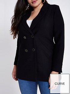 ri-plus-double-breasted-textured-blazer--black