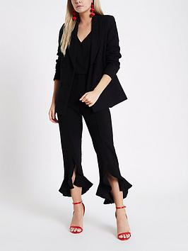 Petite Black Hem RI Frill Trousers Authentic For Sale Buy Cheap Online Original Cheapest EfOOqH
