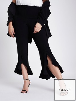 ri-plus-frill-hem-trousers--black