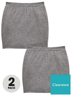 v-by-very-girls-2-packnbsptube-school-skirt-grey