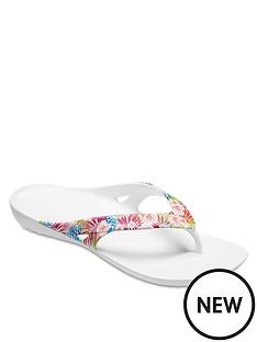 crocs-kadee-graphic-flip-flop-tropical-print