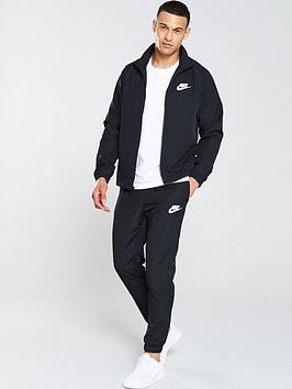 23f015f7f Nike Sportswear Basic Woven Tracksuit - Black