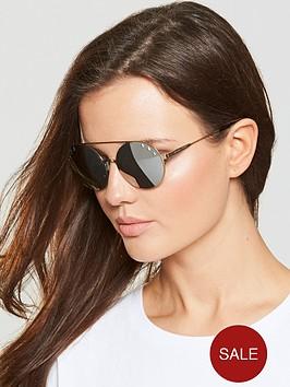 a7fbfa09a056 MICHAEL KORS Round Stone Detail Sunglasses - Gold ...
