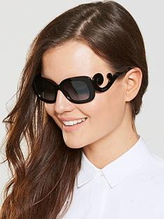 prada-swirl-arm-rectangle-sunglasses-black
