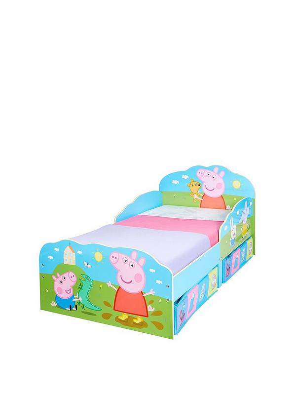 Incredible Peppa Pig Toddler Bed With Underbed Storage By Hellohome Interior Design Ideas Tzicisoteloinfo