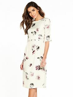 phase-eight-olga-rose-print-dress-buttermilk