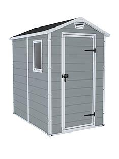 keter-4x6nbspftnbspapex-manor-resin-garden-shed