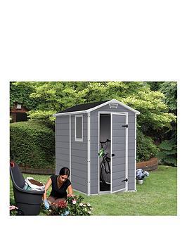 keter-4x6nbspftnbspapex-manor-resin-garden-shed