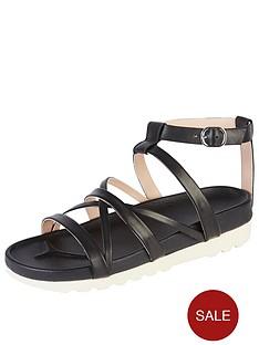 kickers-karah-leather-strap-flat-sandal-black