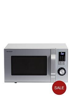 sharp-23l-800w-silver-solo-microwave-silver