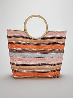 v-by-very-circle-handle-stripe-beach-bag