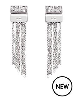 karen-millen-karen-millen-silver-multi-chain-double-drop-earrings