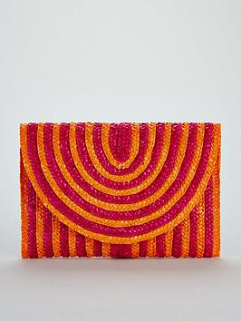 Stripe Bag Straw Very V Clutch Colour Pop by Shop Offer Cheap Online Visit New Cheap Online Very Cheap Price am8RxW