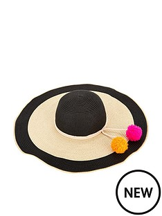 v-by-very-floppy-beach-hat--nbspmonochrome