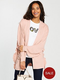v-by-very-ruffle-detail-batwing-cardigan-blush-pink