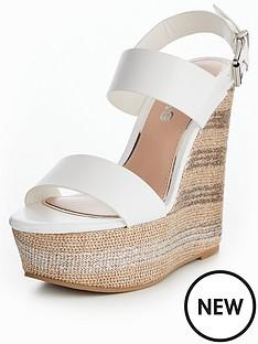 05a96bab74af Miss KG Promise Mega Wedge Sandal - White