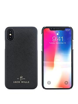 jack-wills-saffiano-inlay-shell-apple-iphone-x-wray-black