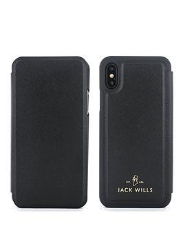 jack-wills-apple-iphone-x-folio-bayles-black-saffiano