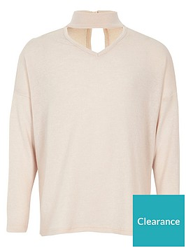 river-island-girls-light-pink-choker-neck-jumper