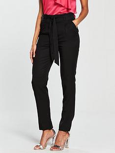 v-by-very-tapered-leg-tencel-trouser-black