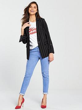 Excellent Cheap Online Black V Pinstripe Blazer by Very  Collections Discount Cheap Online Sast fBABlKXvX