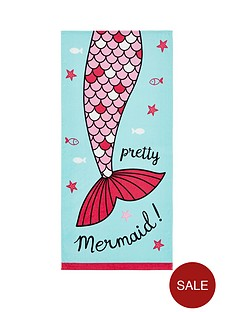 catherine-lansfield-mermaid-beach-towel