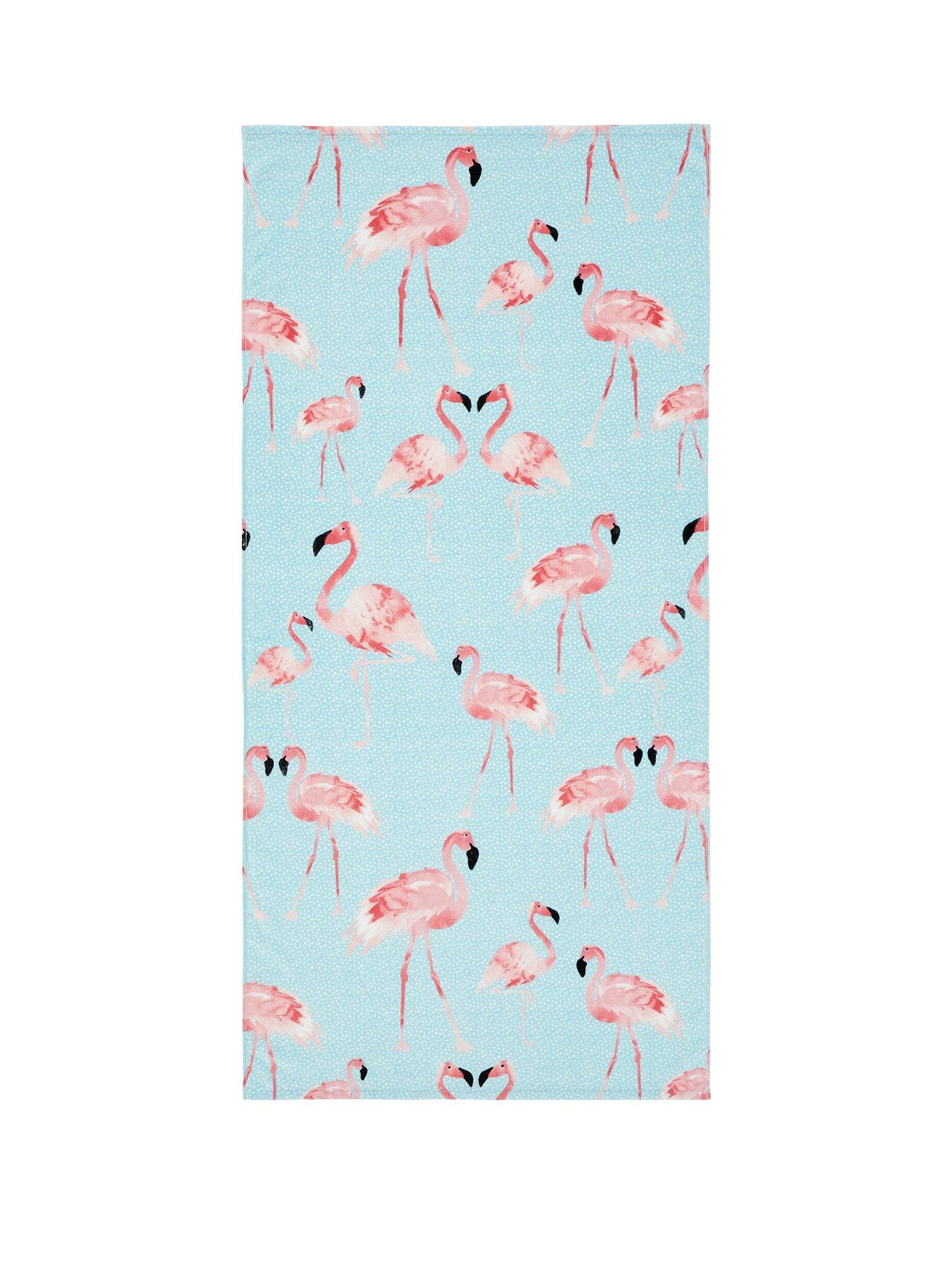 MINNIE MOUSE FLAMINGO BEACH TOWEL NEW